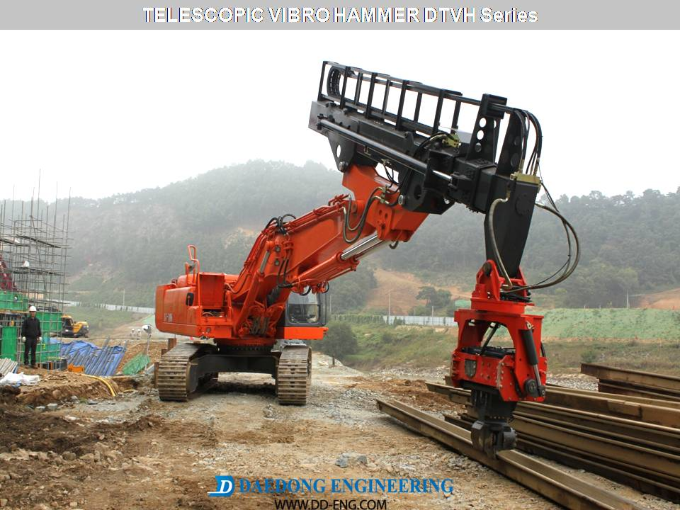 DAEDONG ENG  For Piling & Rock Demolition Attachments, Pile driver